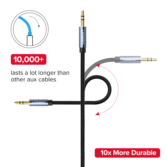 Ugreen Jack 3.5 Audio Cable 3.5mm Speaker Line Aux Cable for iPhone 6 Samsung galaxy s8 Car Headphone Xiaomi redmi 4x Audio Jack 5