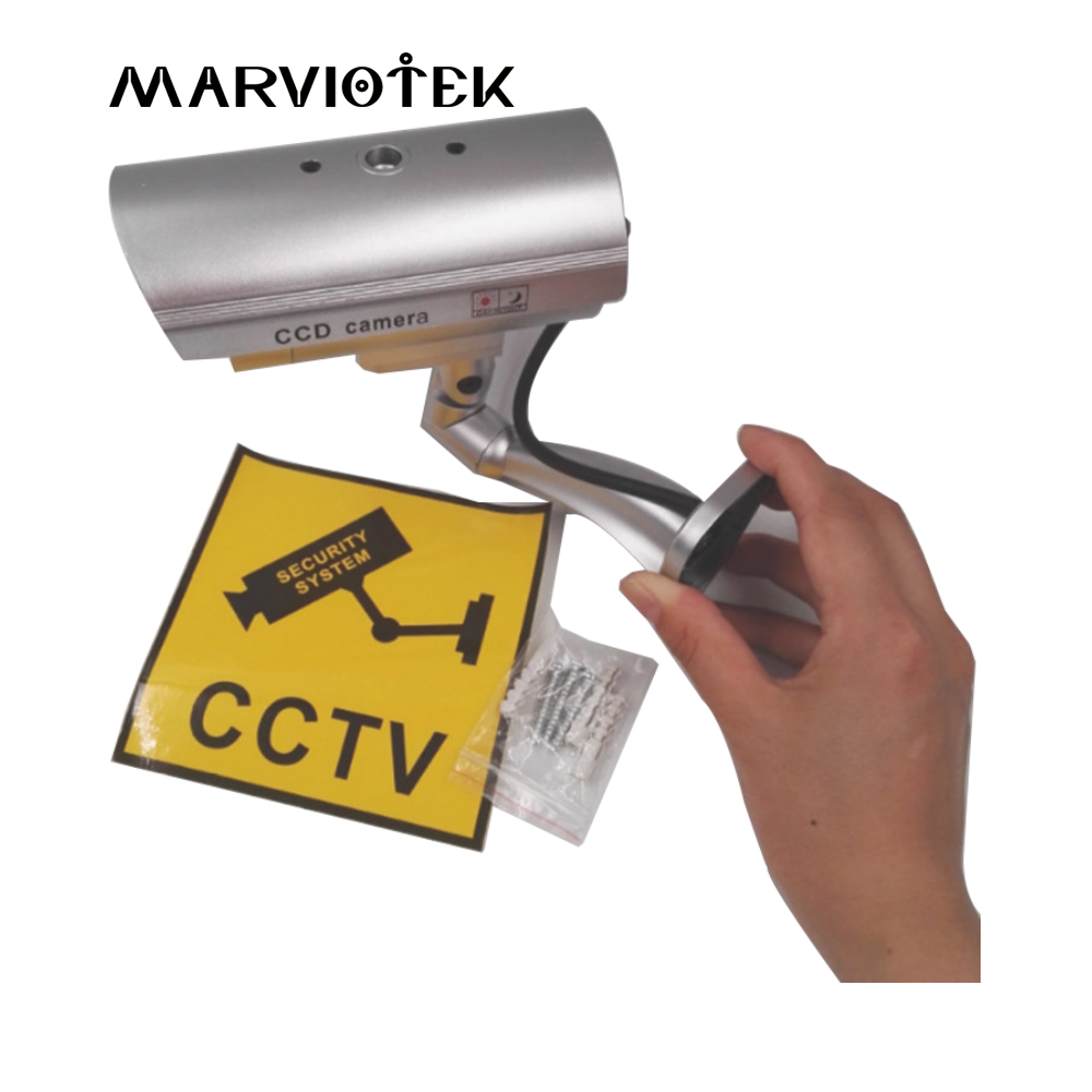 все цены на Fake Dummy Camera Bullet Camera Waterproof Outdoor home Security CCTV Video Surveillance Camera Indoor With Flashing Red LED