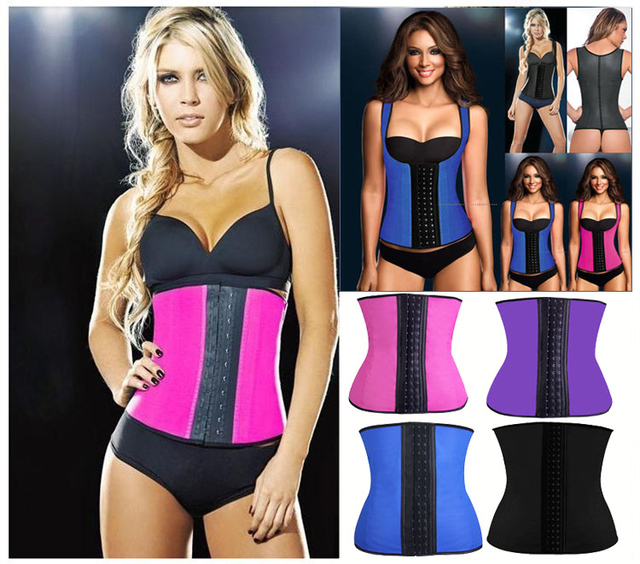 Top quality body shapers Sport waist trainer Latex waist cincher latex  Rubber Corsets women gaine amincissante fajas 4cc930635f8
