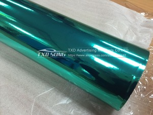 Image 3 - Free shipping Stretchable tiffany blue chrome mirror vinyl Chrome mirror film wrap Mirror Car Sticker 10/20/30/40/50/60x152CM