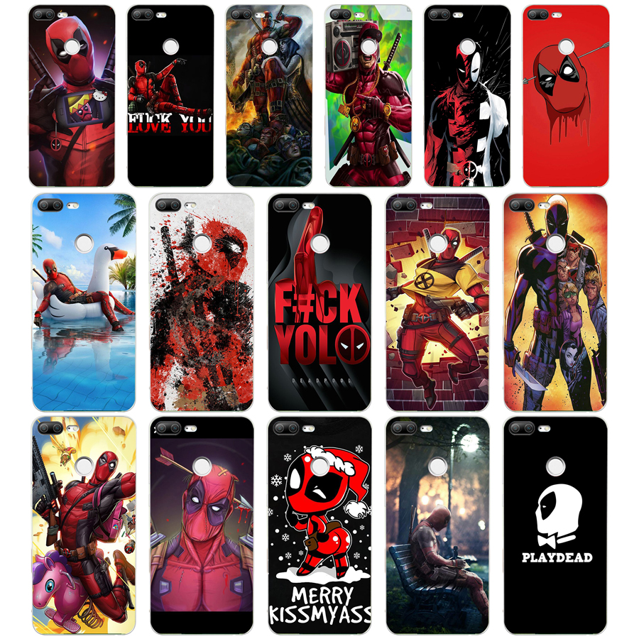 89WE Cool <font><b>Marvel</b></font> Hero Deadpool Soft Silicone Tpu Cover <font><b>phone</b></font> <font><b>Case</b></font> for huawei <font><b>Honor</b></font> 8 <font><b>9</b></font> 10 <font><b>Lite</b></font> 8X p 8 <font><b>9</b></font> <font><b>lite</b></font> 2017 image
