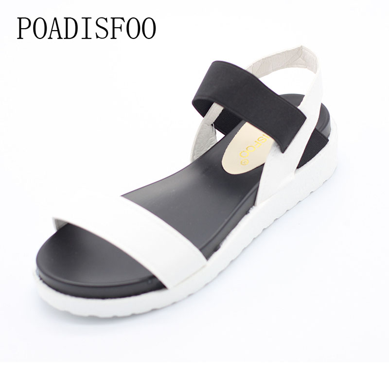 84e24e7b28 POADISFOO 2018New Spring Summer Women sandals female robe thick platform  buckle with Roman light Black sandals shoes .HYKL 810-in High Heels from  Shoes on ...