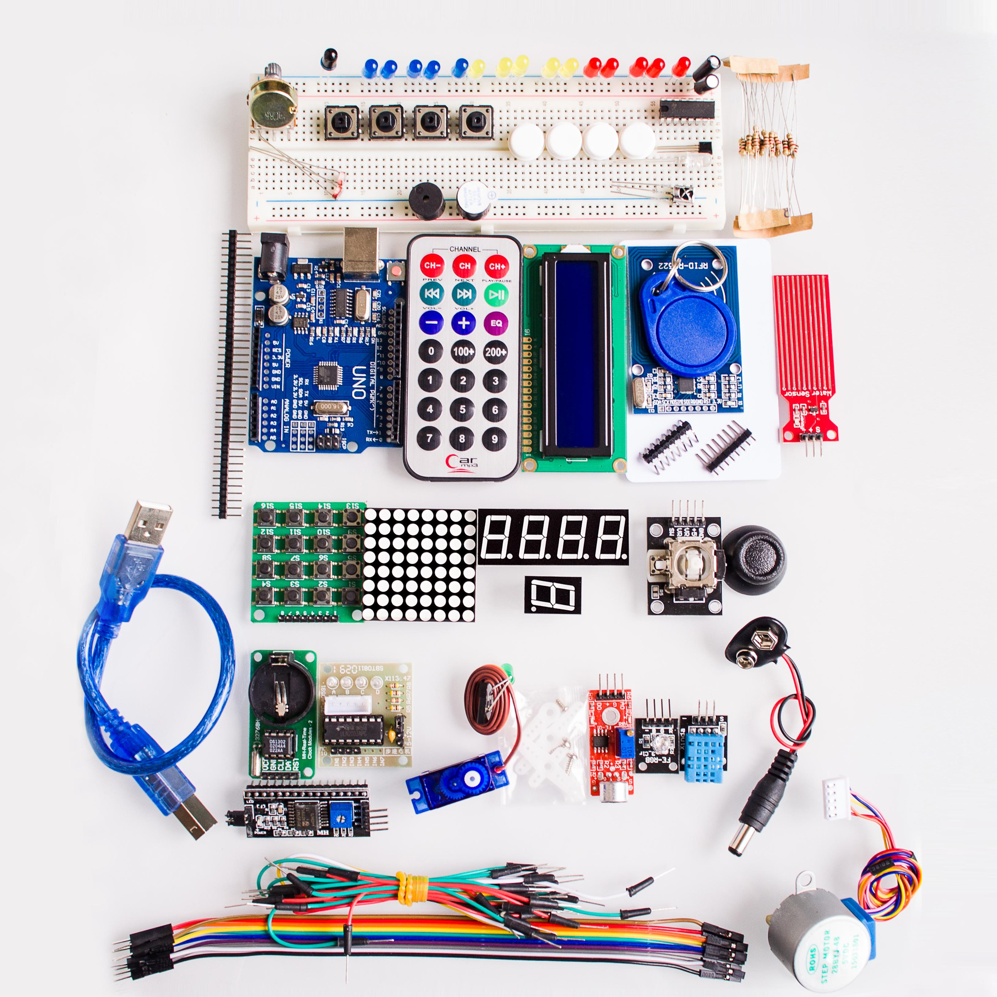 UNO R3 KIT Upgraded version of the Starter Kit the RFID learn Suite LCD 1602 for arduino kit uno r3 uno arduinostarter kit arduino - AliExpress