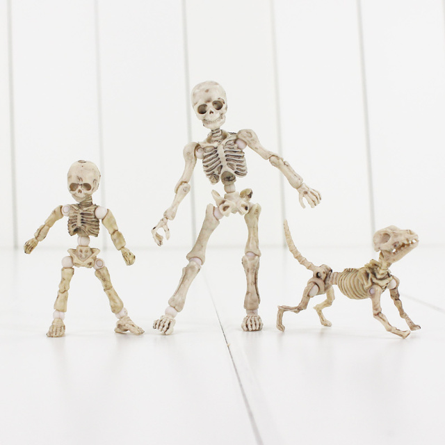 Pose Skeleton Mode PVC Figure Toy Human Child Dog Skeleton Body Chan ...