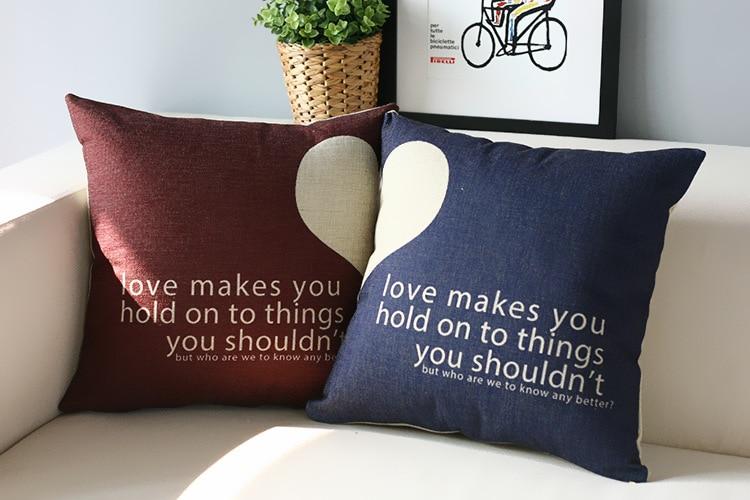 Simple Heart Couple Pillow S,Wedding Gifts Pillow Cushion ,wedding Pillowcase,Pillow Home Decoration Sofa Cushion