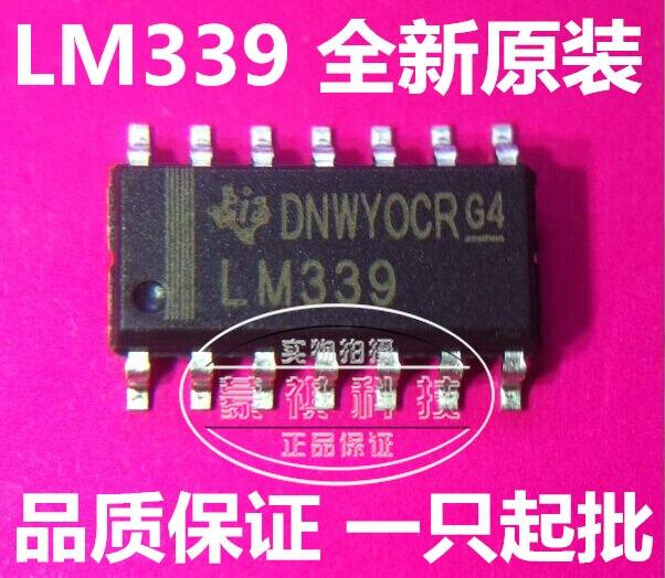 10pcsLM339 Four Channel Voltage Comparator SOP-14 Brand New Original One Start