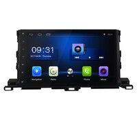 10.2 Quad Core Android 6.0 1G RAM Car Radio for TOYOTA HIGHLANDER XU50 series 2014 2019 GPS Navigation steering wheel Free map