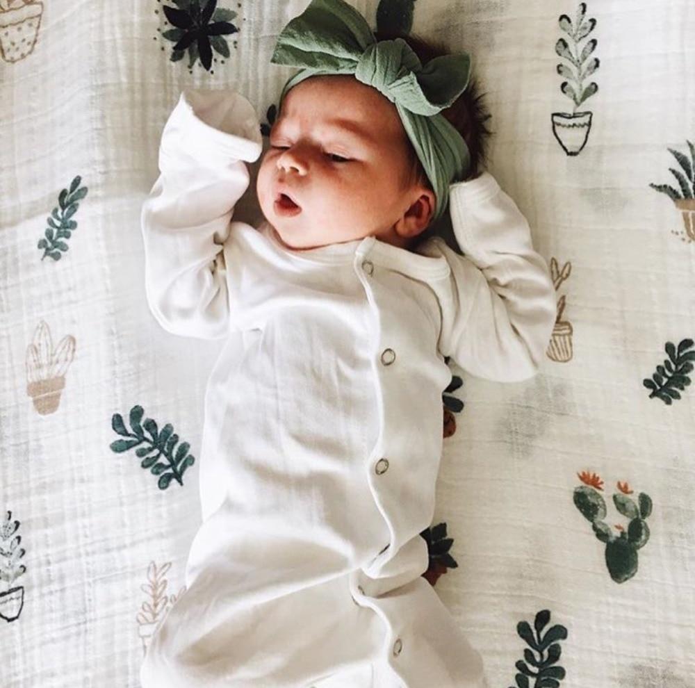 ộ_ộ ༽Recién nacido de algodón de bambú manta de bebé swaddle musin ...