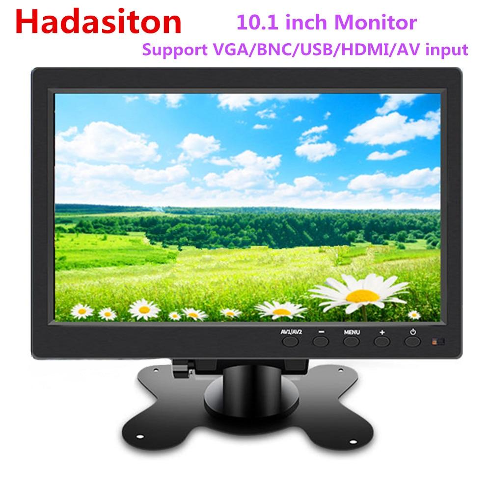10.1 HD 1024*600 LCD monitor Car monitor MP5 player Home  security monitor PC/TV Display Support VGA/BNC/USB/HDMI/AV inputCar  Monitors