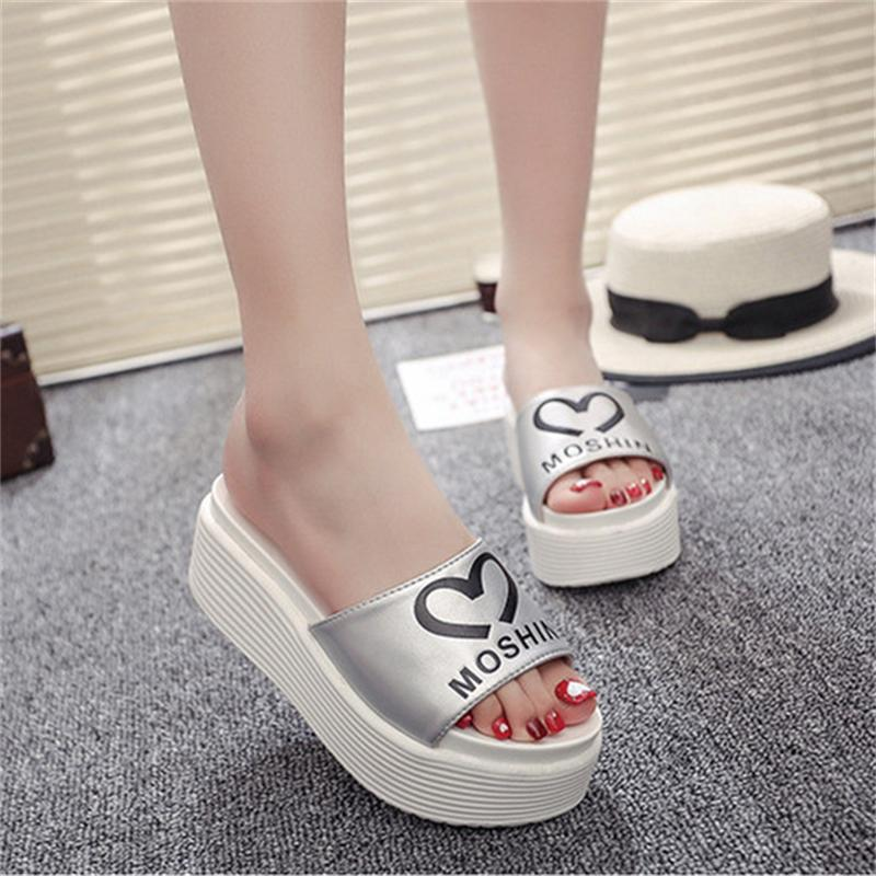 Women Sandals 2017 Summer Shoes Woman Flip Flops Wedges Height Increasing Fashion Platform Female Slides Ladies Shoes Peep Toe цены онлайн