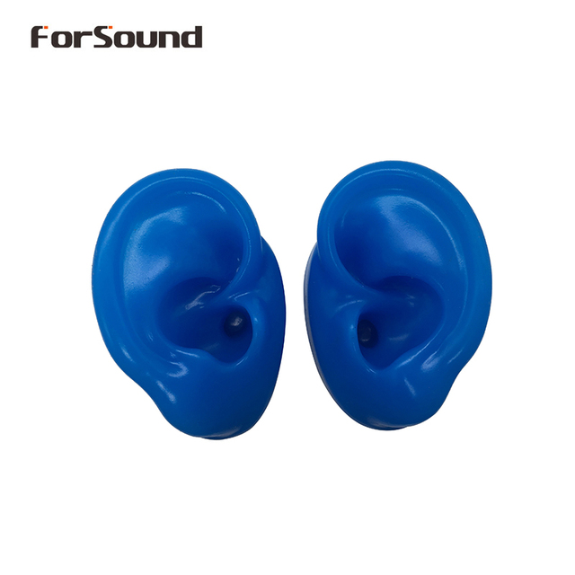 Silicone Ear Model for Hearing Aids and exhibitions Display Ears (1 left ear + 1 right ear)
