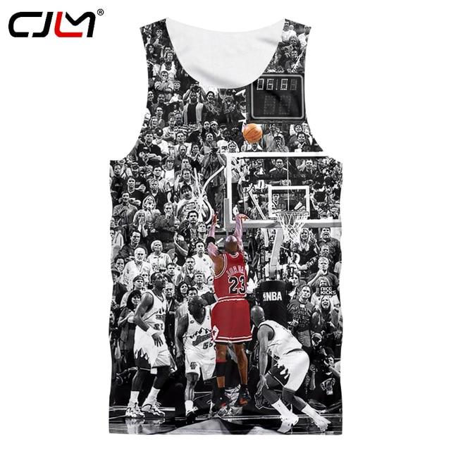 3bf7b2f91572 CJLM 2018 Summer Tops Fans Tanks Men 3d Digital Print Jordan 23 Tank Top  Homme Hip Hop Sleeveless Shirts Vest Man Singlets 5XL