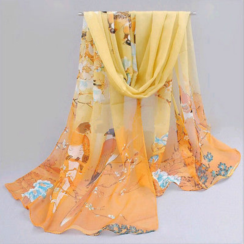 Fashion Chiffon Women Ladies Scarf Neck Shawl Scarf Scarves Wrap Stole Warm Gift