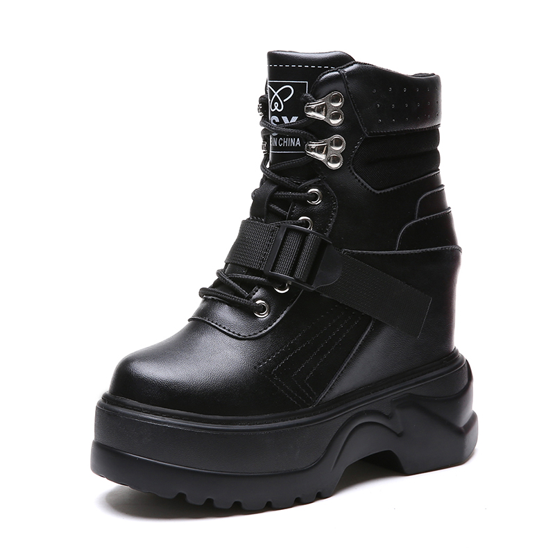 Rimocy height increasing ankle boots women 2018 autumn winter fashion plush inside warm Vulcanized shoes woman casual booties стоимость