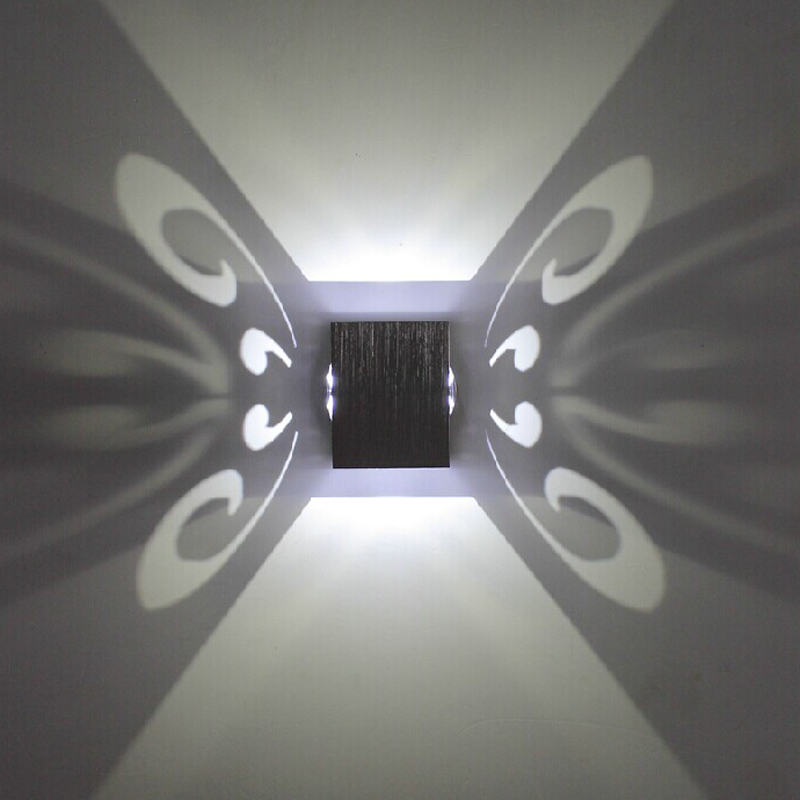 Butterfly Wall Lamp 3W LED Sconce Led Wall Mounted Light Aluminum for Aisle Bedroom Corridor Porch Bar Background Fixture Light