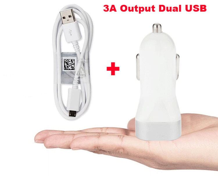 2A 1A Dual Micro USB Cell Phone Car Charger Lighter For Motorola Moto Z Force/G5S/G5S Plus,ZTE Tempo X,Blade Force,Oppo F5 Youth