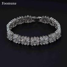 Luxurious Crystal Bracelet Silver Color Adjustable Infinity Charm Bracelets for Women Fashion Jewelry