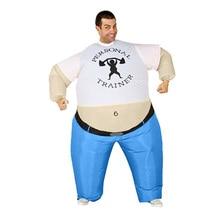 Inflável Traje Para Adulto Halloween traje engraçado inflável blow up  Personal Trainer festa à fantasia vestido 400cb064afa