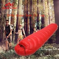 LMR ultra light 3000G goose down filling outdoor camping splicing mummy winter sleeping bag