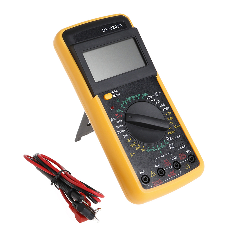 AC / DC DT-9205A digital multimeter to resistance of an ammeter capacitance