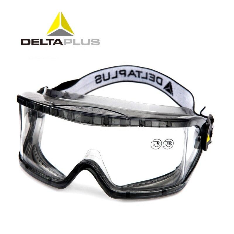 DELTAPLUS Safety Goggles Anti-Impact Anti Chemical Splash Protective Glasses Goggles Lab Labor Eye Protection Riding Anti-fog