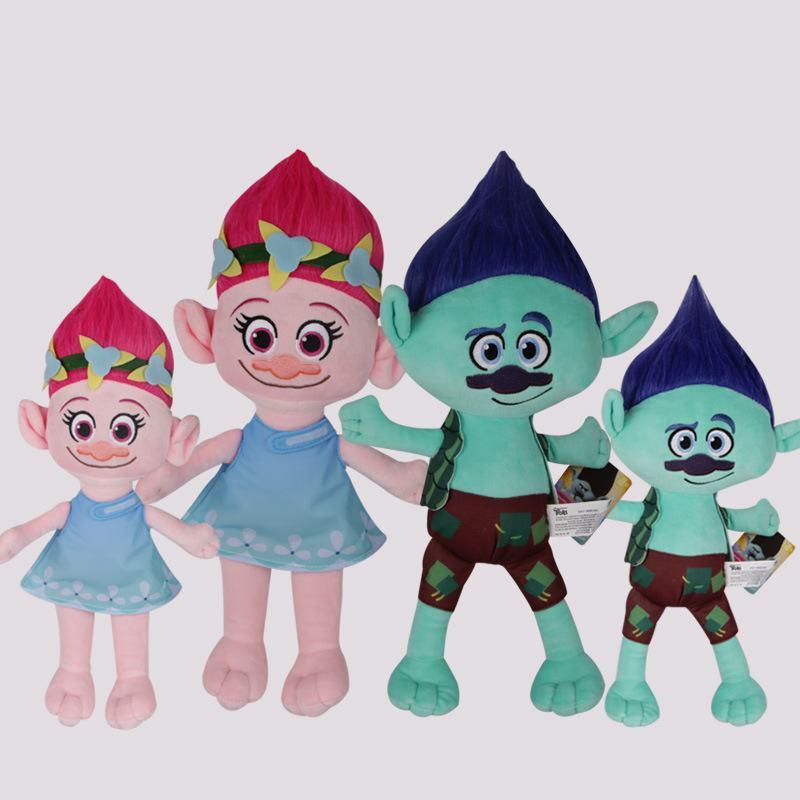 Tatalia The Good Luck Trolls Dolls Dream Magic Fairy Hair Wizard Blanche Bobbi Magic elf Mega Cartoon Doll Stuffed Kids Gift