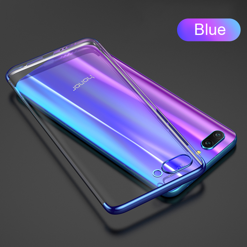 Роскошный ультра-тонкий ТПУ чехол силиконовый мягкий чехол для huawei mate30 P30lite P20lite Nova5T Honor 9X V20 P30 P20 чехол Funda - Цвет: Синий