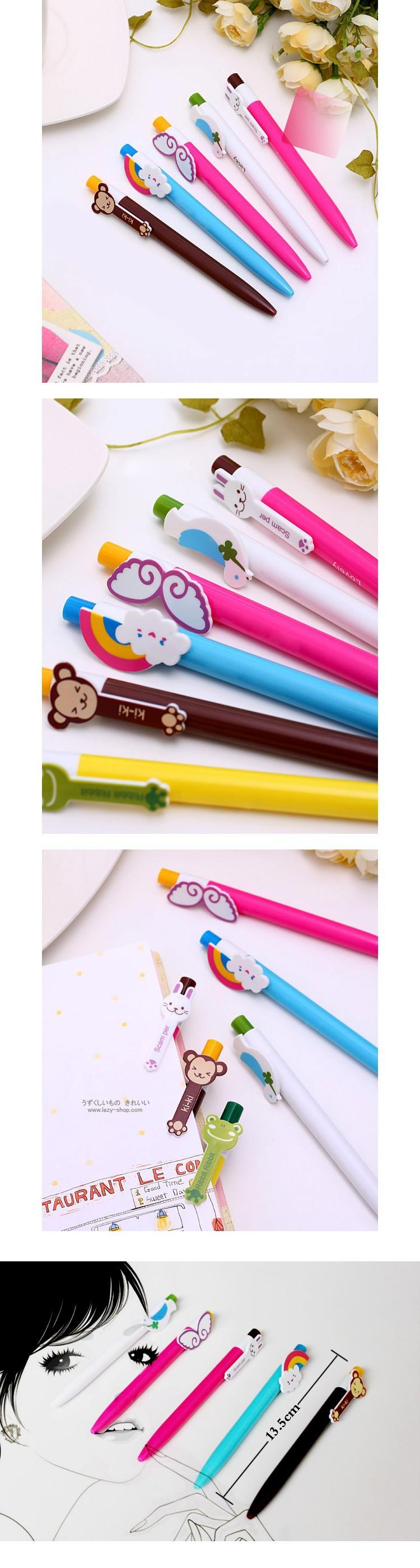 творческий красочные животные крылья шариковой ручки корейский мяч ручка 20 шт. / много