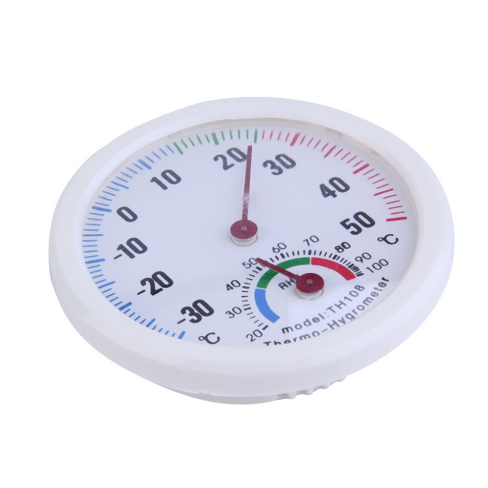 Mini Indoor Healthy Thermometer Hygrometer White Plastic Case Mount On The  Wall Or Desk Humidity Thermometer 20 C To +50 C In Temperature Gauges From  Home ...