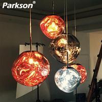 Tom DIXON Lava Glass Ball Pendant Lghts Shade Creative Lamp Mirror Hang Modern Hanging LED Ceiling Lamp Nordic Pendant Plated