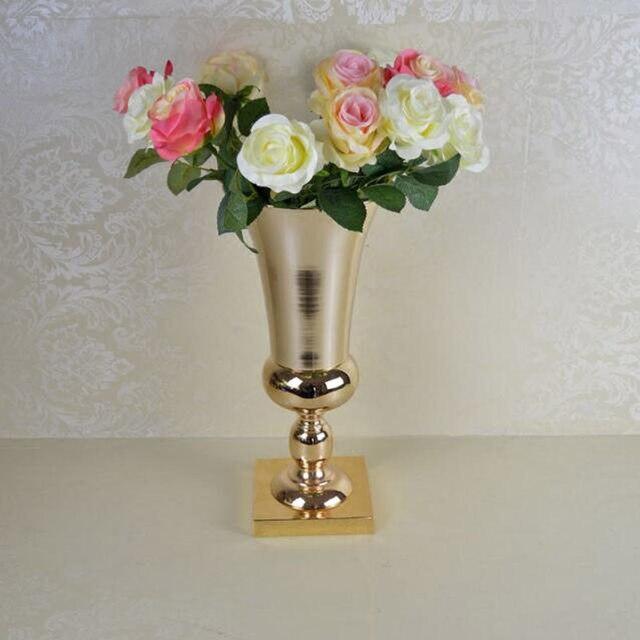 Online Shop 2pcslot Free Shipment Gold Metal Flower Vase Table Pots