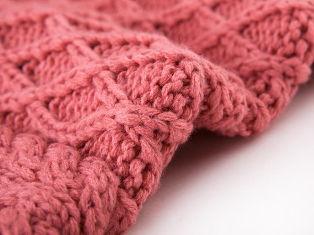 2015 Pure Color Diamond Lattice Knitting Pattern Set Of Head Scarf