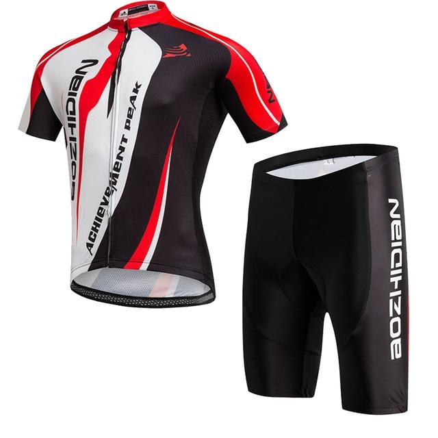 dd28ba54003 2017 China Cheap Cycling Jersey+ Cycling Shorts Set Short Sleeve Summer Bike  Clothing Bib Set 3D Gel Pad Outdoor Sport Clothes