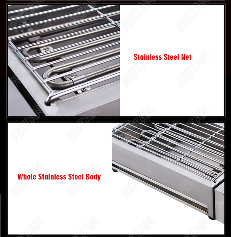 EB280 Electric Smokeless Barbecue Oven Grill for bbq machinery Stainless Steel High Power 4