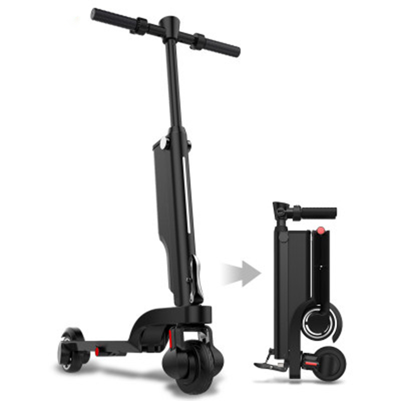 2018 NEW Electric scooter portable folding mini adult shock generation driving two wheel lithium battery scooter