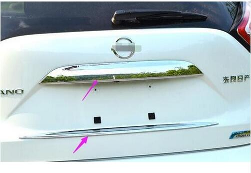 ACCESSORIES FIT FOR NISSAN MURANO 2015 -2017 CHROME REAR TRUNK LOWER COVER TRIM BOOT DOOR TAILGATE GARNISH MOLDING HATCH HANDLE