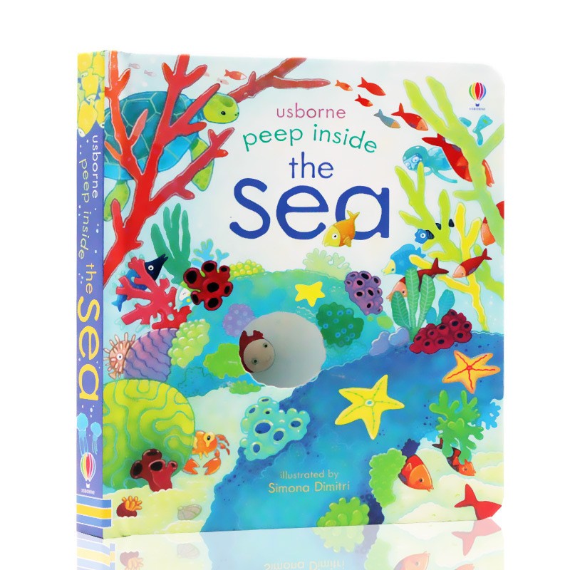 Peep Inside The Sea English Educational 3D Flap Picture Books Baby Children Reading Book