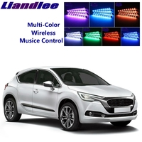 LiandLee Car Glow Interior Floor Decorative Atmosphere Seats Accent Ambient Neon light For Citroen DS4 DS 4