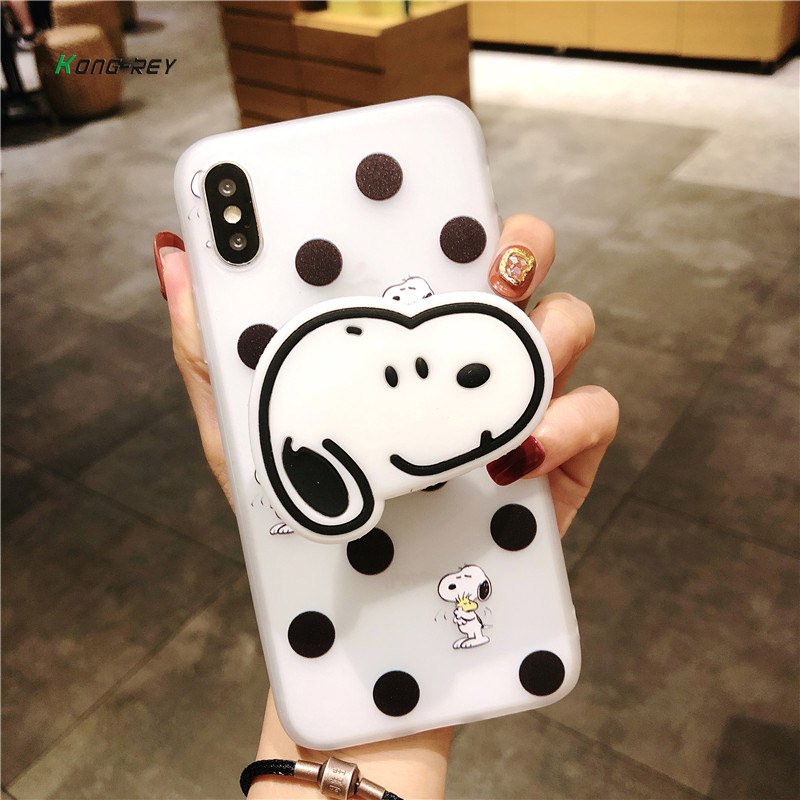 KONGREY Cartoon color mobile phone shell all-inclusive silicone case soft shell airbag bracket Suitable for iphone X 7plus 8 6s