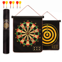 12/15/17/20 inch target dart flocking dartboard board magnetic darts set velvet shooting sports game double sided magnet target