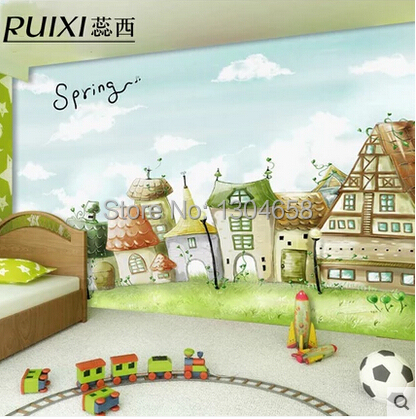 Custom large mural of children bedroom background wall wallpaper lovely fairy tales custom large murals cartoon animals of bedroom the head of a bed children room background wallpaper jungle general mobilization