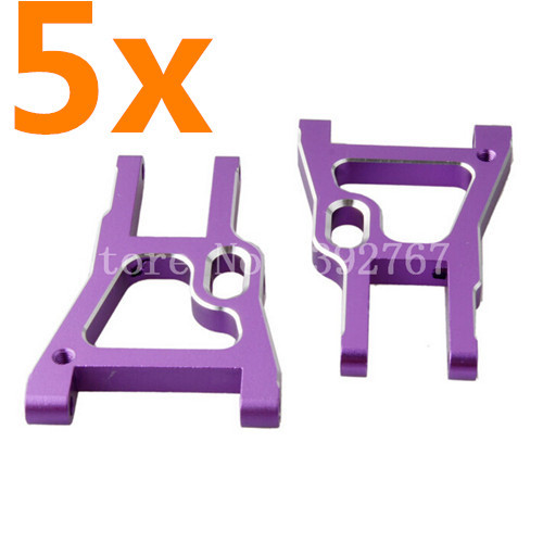 Wholesale 5Pairs/Lot HSP Upgrade Parts 102019 (02008) Alum.Front Lower Suspension Arm CNC For 1/10 R/C Model Car 94102 SONIC