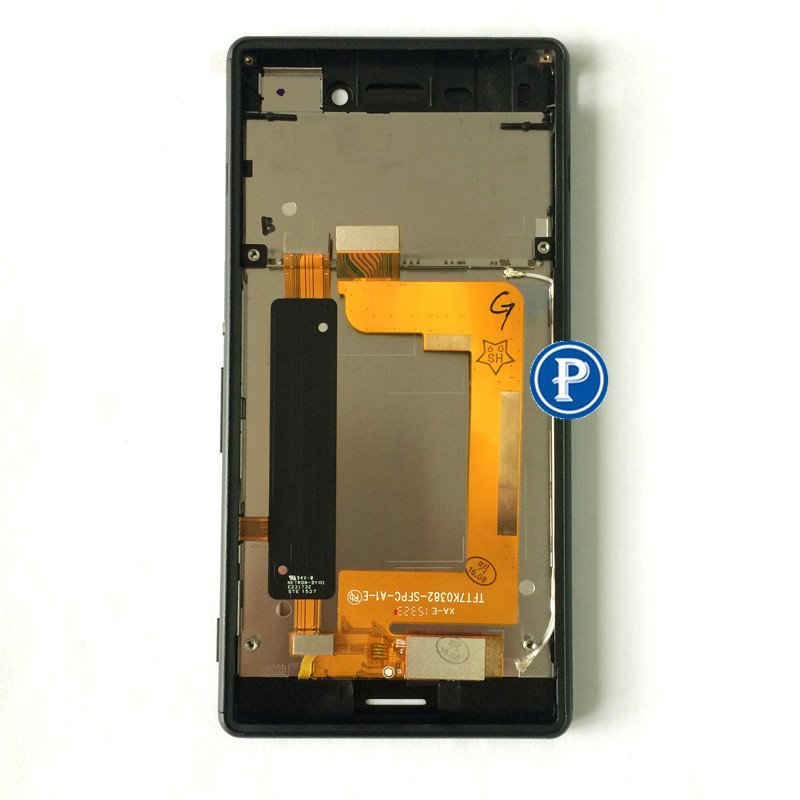 2 sim Version For Sony Xperia M4 Aqua (E2303) LCD Display with Digitizer touchpad and Frame assembly Complete black Free Shiping