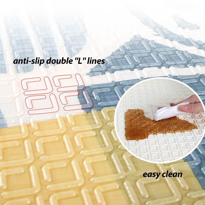 Infantile brillant 180*200cm enfants jouer tapis de jeu Cotoon tapis tapis tapis coton ramper couverture tapis de sol pour bébé cadeau - 4