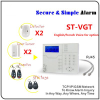 2015 New 868Mhz Network AlarmTCP IP Burglar GSM Seurity Alarm Real Time Monitoring 1080P Surveillance Alarm