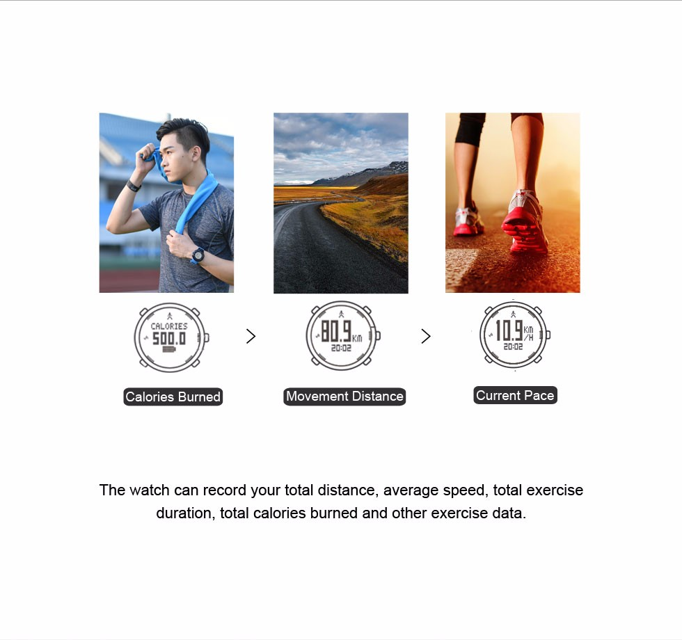 IsMyStore: EZON T031 Mens GPS Sports Watches 50M Waterproof Distance Pace Calorie Counter GPS Timing Multifunctional Digital Wrist Watches