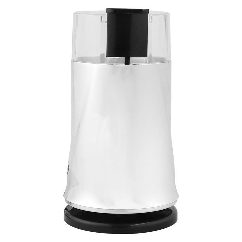 Household Coffee Grinder Bean Grinding Food Grade Transparent Cover Multifunctional Stainless Steel Grinder Cafe Kitchen Tool