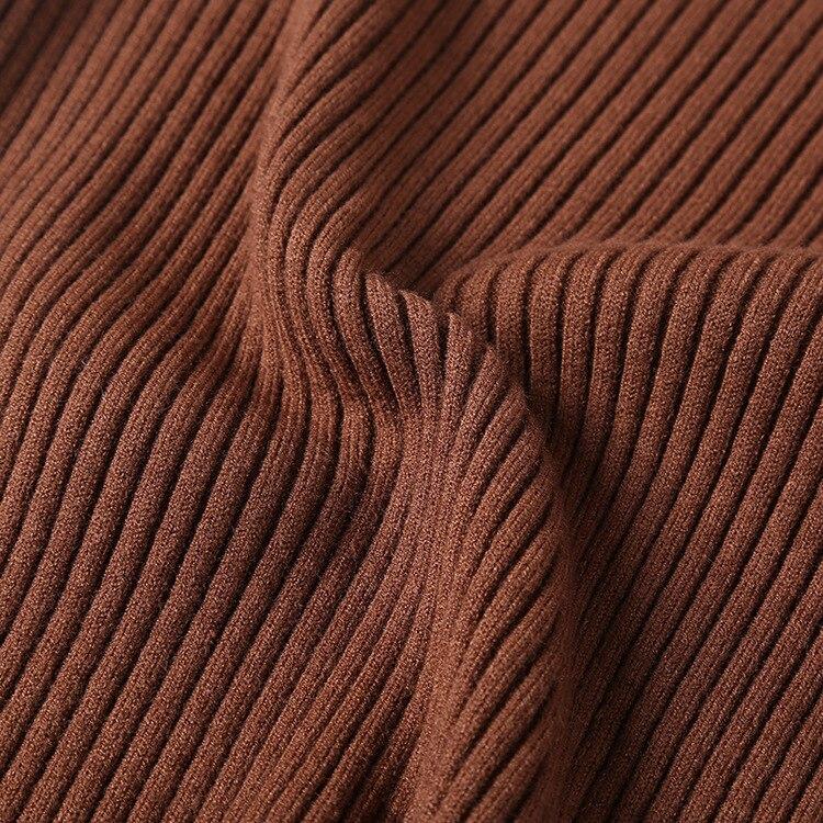 brown claret Grey Couleur Colour À Bord Coréenne white dark apricot Modèle khaki Longues Solide pink culture Un Nouveau Hiver red Tête Manches Auto Femme Black Vague Chandail Épaississement zwUxRI4qg