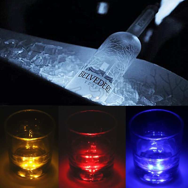 10pcs LED Decoration Light Bottle Stickers LED Glorifier Mini Light LED Coaster Cup Mat for Party Bar Club Vase Xmas Wine Glass ...