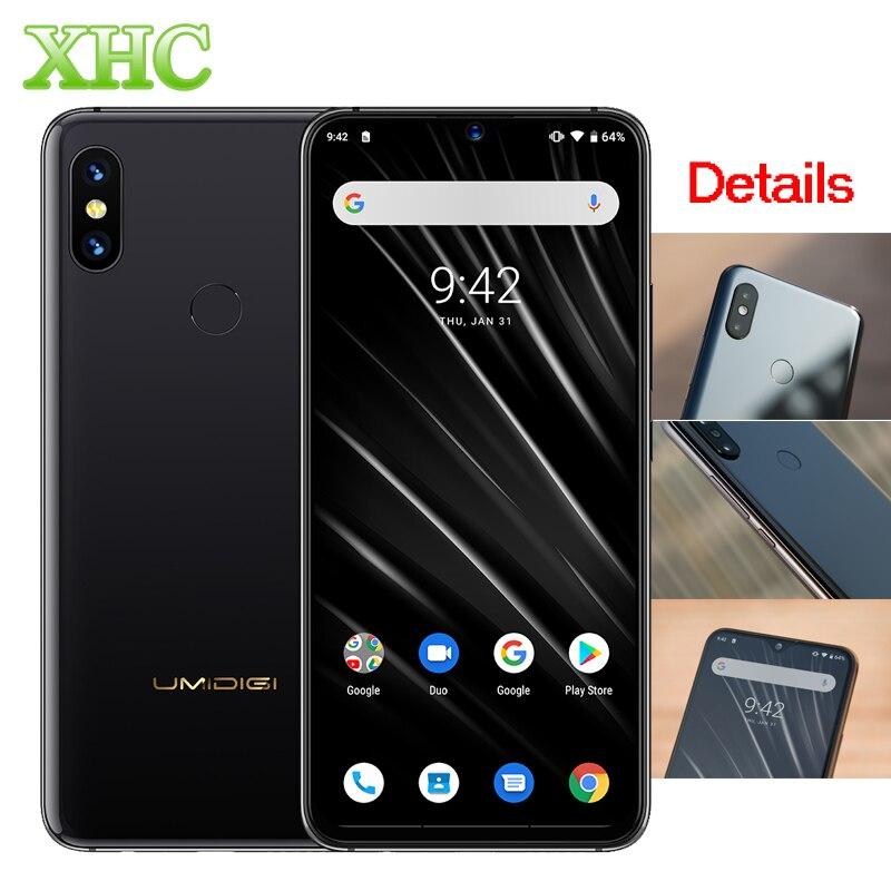 Global 4G UMIDIGI S3 Pro 48MP + 12MP + 20MP Android 9.0 Do Telefone Móvel 5150 mAh Super Power 128 GB 6 GB 6.3
